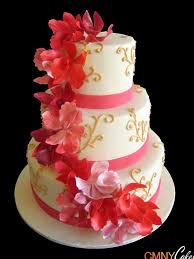 Red Orchids Red Orchids Wedding Cake Cmny Cakes