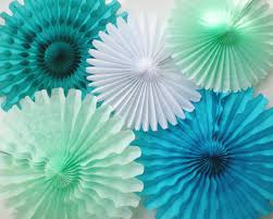 mint green tissue paper tissue paper fans sea mint green teal turquoise by dellacartadecor