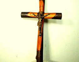 wooden wall crucifix wall crucifix etsy
