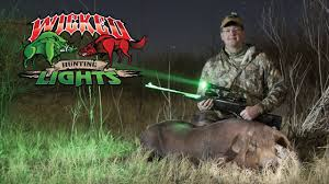 night hunting lights for scopes night boar hog hunt 300 lbs using wicked hunting lights youtube