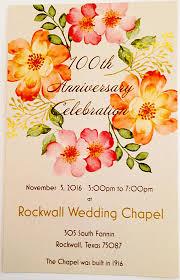rockwall wedding chapel 100th anniversary celebration rockwall wedding chapel planet