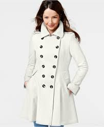 via spiga double breasted flared peacoat coats women macy s