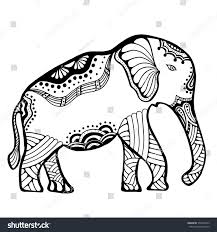 doodle indian indian elephant doodle indian stock vector 372010243