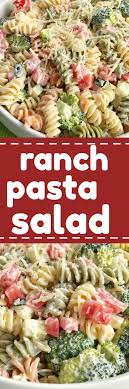 pasta salad recipe easy ranch pasta salad together as family