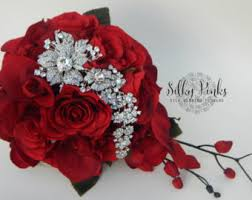 Red Wedding Bouquets Red Bridal Bouquet Etsy