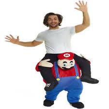 Piggyback Halloween Costume Carry Super Mario Ride Piggy Mascot Costume Fancy