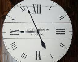 Shabby Chic Wall Clocks by Oversized Clock Etsy