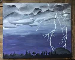 storm painting etsy