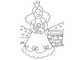 imagenes de un sapo para dibujar faciles de princesa y sapo encantado para colorear con los niños