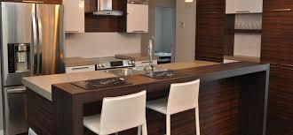 table de cuisine en stratifié cuisine contemporaine avec armoires de mélamine et comptoirs de