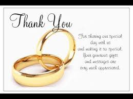 wedding wishes note wedding thank you cards