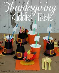 thanksgiving kiddie table hoosier