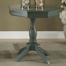 teal accent table iliana antique teal accent table w octagon table top