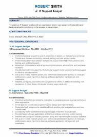 Analyst Resume Example It Support Analyst Resume Samples Qwikresume