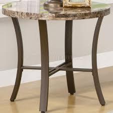 like round top u0026 metal base modern 3pc coffee table set