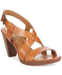 clarks collection women u0027s jaelyn fog dress sandals in brown lyst
