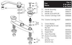 glacier bay kitchen faucet diagram sink faucet parts diagram of parts for heritage replacement parts