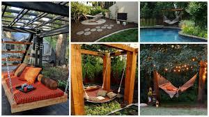 outdoor backyard landscaping ideas diy backyard hammock