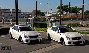 lowered cadillac cts cadillac cts v on eibach springs with mike s cts v