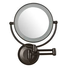 lighted magnifying mirror wall mount 10x pinotharvest com