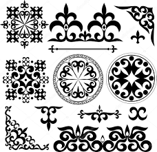 kazakh patterns stock vector happyluckygirl 66465007