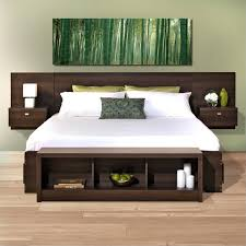 Storage Bed With Headboard Platform Storage Bed With Floating Headboard In Espresso Ebx