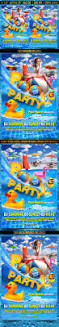 pool party flyer template by gugulanul graphicriver