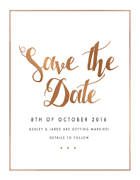 save the date collection digital printing save the date