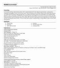 Resume For A Cleaning Job by Best Residential House Cleaner Resume Example Livecareer