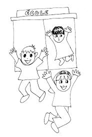 coloriage enfants sortant de l u0027école tête à modeler