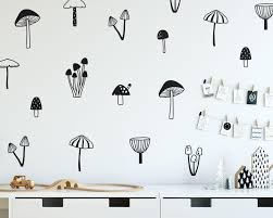 Forest Nursery Wall Decals by Mushroom Wall Decals Woodland Nursery Decals Forest Decals