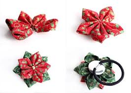 christmas hair accessories how to make a bobble tie