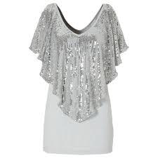 sequin s sparkle glitter tank sleeve top t shirt