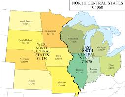 Map Of Central Illinois by Lc G Schedule Map 9 North Central States Waml Information Bulletin