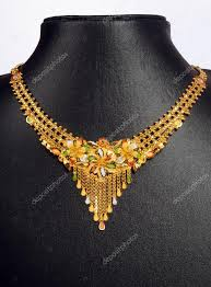 pattern gold necklace images Indian gold necklace with different pattern stock photo jpg
