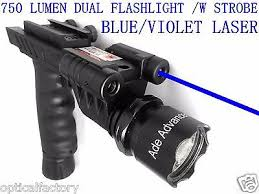laser and light combo blue laser 700 lumen strobe flashlight dim light combo sight rifle