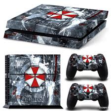 ps4 playstation 4 console skin decal sticker resident evil custom