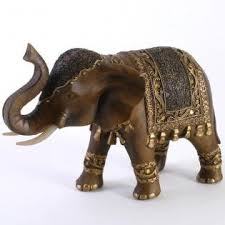 attractive large lucky thai elephant ornament with upraised trunk