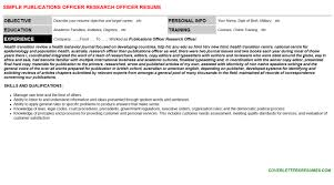 publications officer research officer cover letter u0026 resume