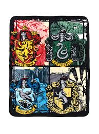 Harry Potter Bathroom Accessories Harry Potter Hogwarts Houses Throw Blanket Topic