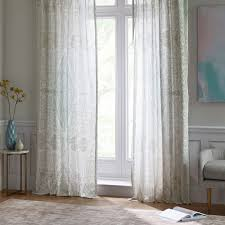 Curtains Set Sheer Cotton Distressed Medallion Curtains Set Of 2 Pale