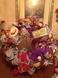 mesh house divided wreath lsu alabama my wreath creations
