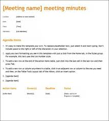 example meeting minutes sample of minutes of meeting minutes for