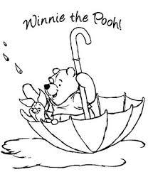 winnie pooh coloring pages umbrella u003e u003e disney coloring pages