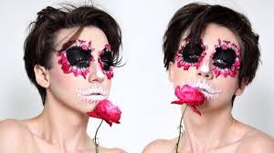 Sugar Skull Halloween Makeup Tutorial by Rose Sugar Skull Halloween Makeup Tutorial Damn Tee Youtube
