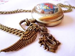 necklace pendant watch images 4 stars dragonball z necklace pendant bronze antique pocket watch jpg