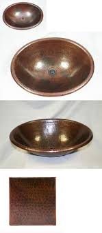 copper vessel sinks ebay sinks 71283 15 round hand hammered drop in copper bathroom vanity