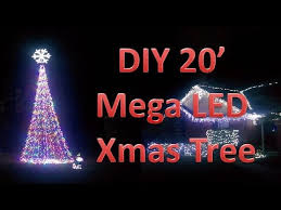 how many christmas lights per foot of tree how to build a 20 foot mega tree youtube