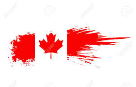 Canada Flag Colors Grunge Canada Flag Background Royalty Free Cliparts Vectors And