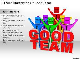 team building powerpoint presentation 3d men illustration of good